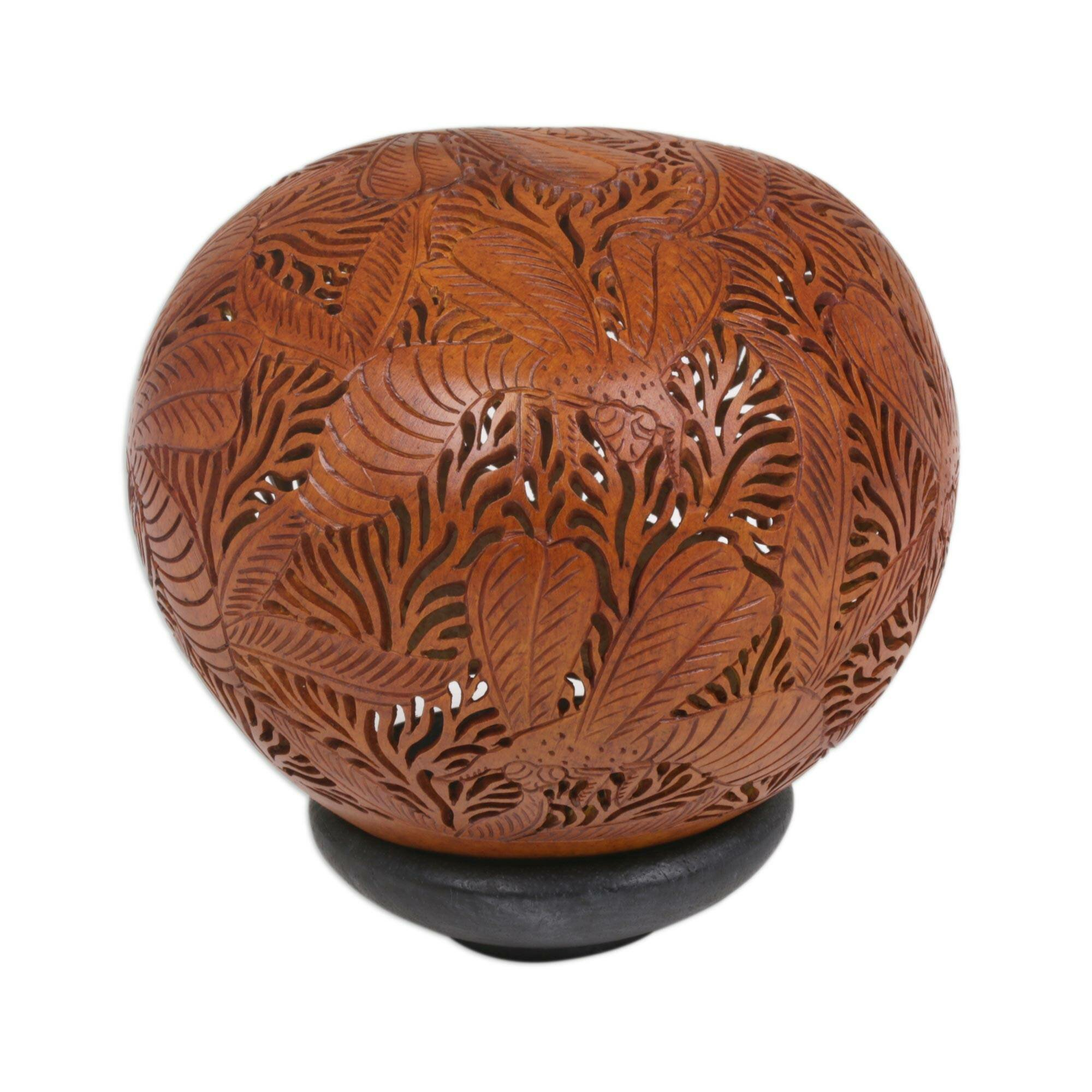 Novica busy bees coconut shell carving sculpture wayfair