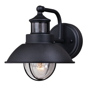 Photocell included outdoor wall lighting youll love wayfair harwich dualux 1 light outdoor barn light workwithnaturefo