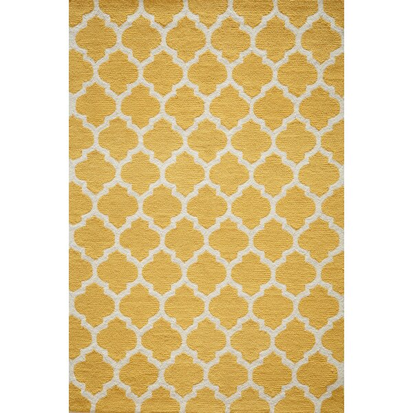 House of Hampton Frank HandHooked Yellow Area Rug Reviews Wayfair