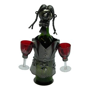 Lady Waitress 1 Bottle Tabletop Wine Rack by Three Star Im/Ex Inc.