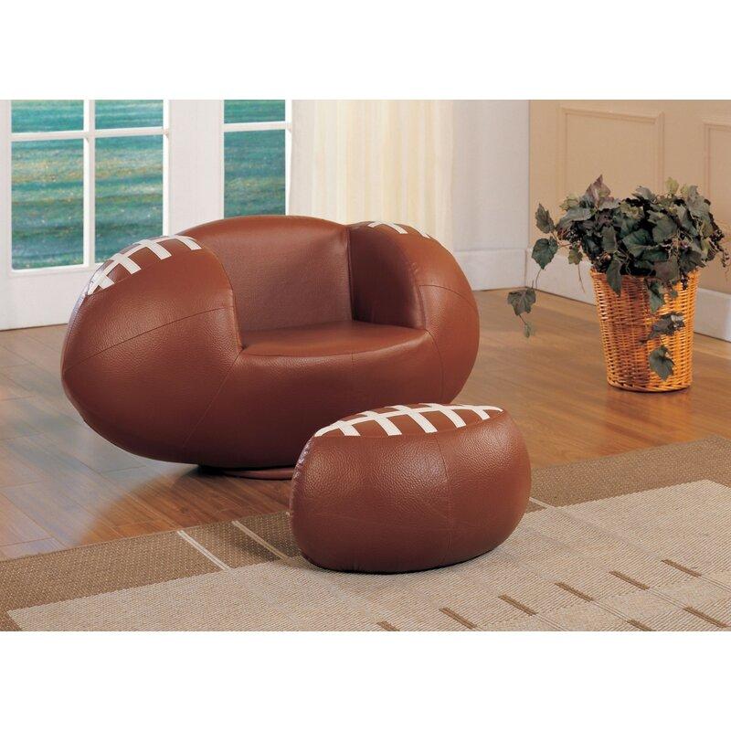 Attirant Knopf Football Kids Chair And Ottoman