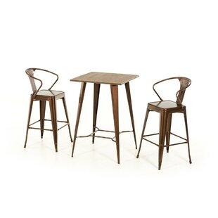 Ashleigh 3 Piece Pub Table Set