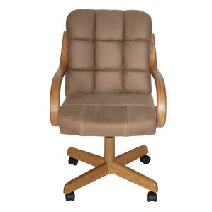 Huntingburg Mid-Back Dining Caster Chair with Arms by Darby Home Co
