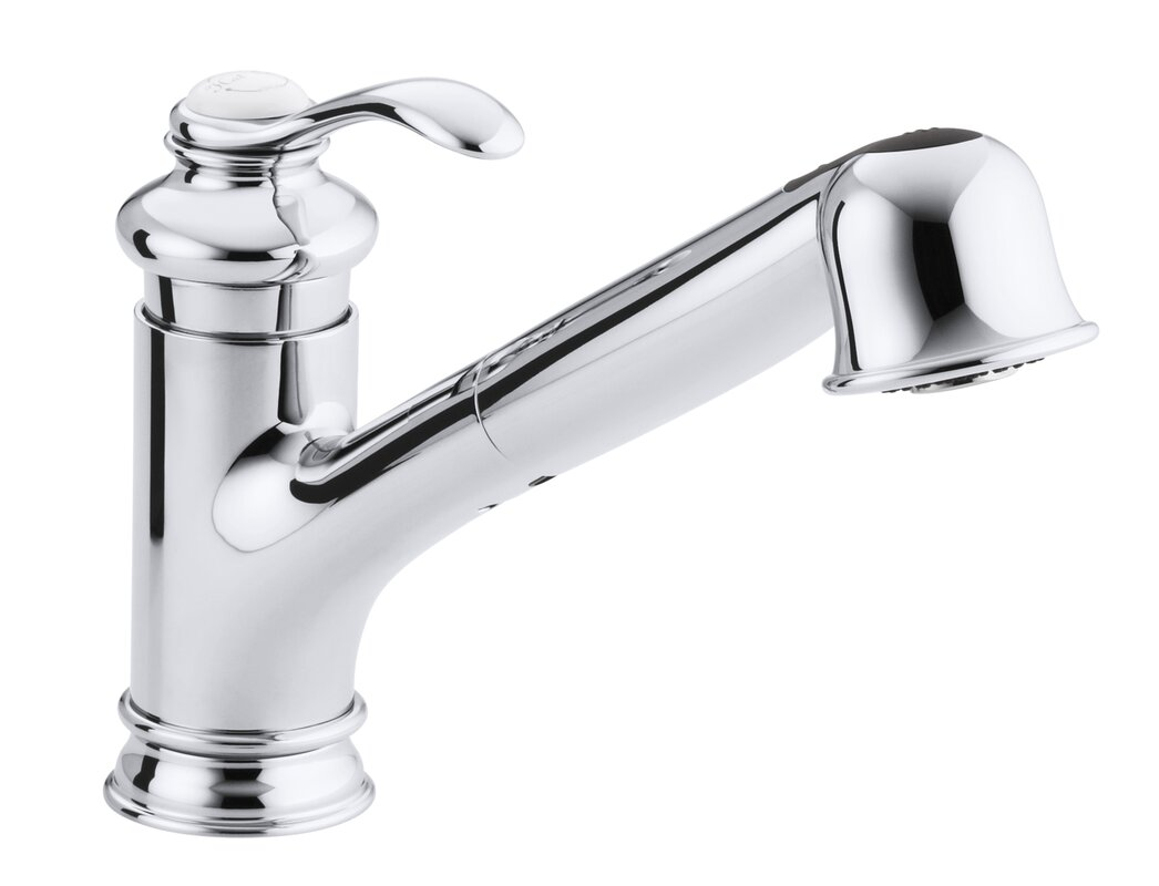 sink faucet. Fairfax Single Hole or Three Kitchen Sink Faucet with 9  Pullout Spout Kohler
