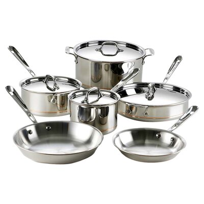 Copper Core 10-Piece Cookware Set All-Clad