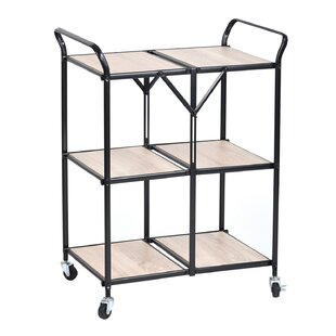 Centerville Kitchen Trolley with Manufactured Wood Top by Wrought Studio