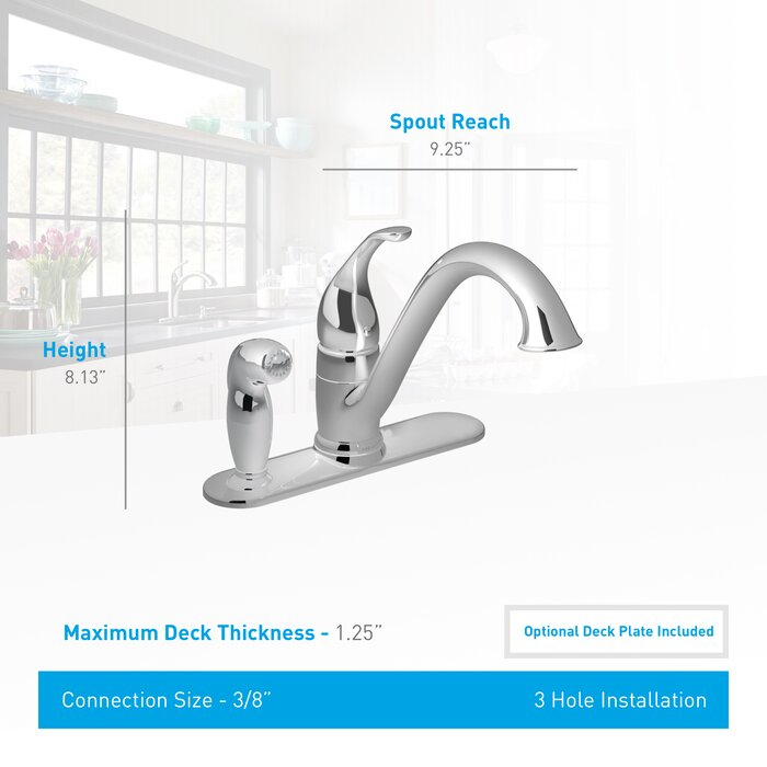 Astonishing Camerist Single Handle Kitchen Faucet With Side Spray Beutiful Home Inspiration Xortanetmahrainfo