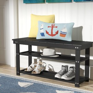 stoneford storage entryway bench