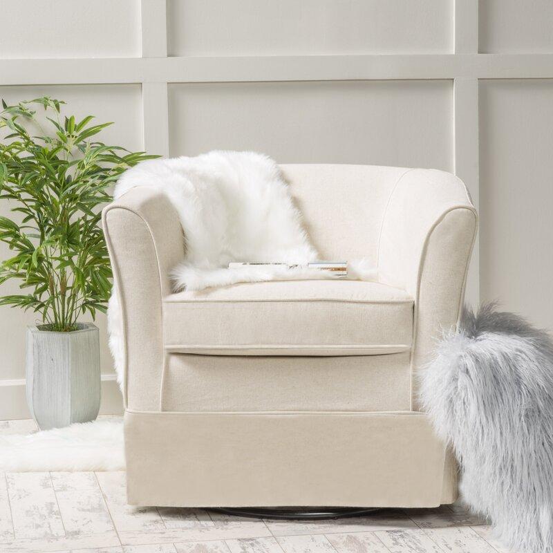 Laurel Foundry Modern Farmhouse Sevan Swivel Barrel Chair