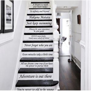 13 steps stairway decal black blue red 13 steps stairway decal by decal house