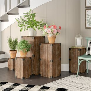 323e8704bdec Harland 5 Piece Pedestal Plant Stand Set