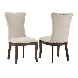 Delaplaine Wingback Upholstered Dining Chair (Set of 2)