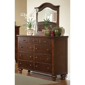 Metropolis 9 Drawers Dresser with Mirror by Three Posts