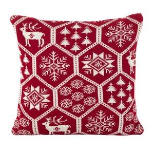 Holiday Fair Isle Throw Pillow