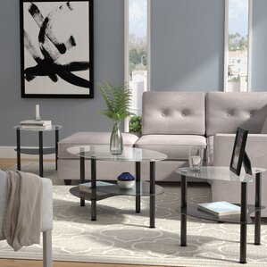 glass living room table set. Clint Coffee Table Set Glass Sets You ll Love  Wayfair