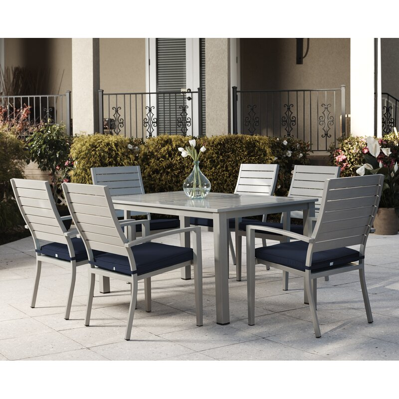 Yohan 7 Piece Dining Set with Cushions