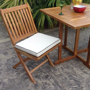 Exceptionnel Santa Barbara Folding Teak Patio Dining Chair With Cushion (Set Of 2)