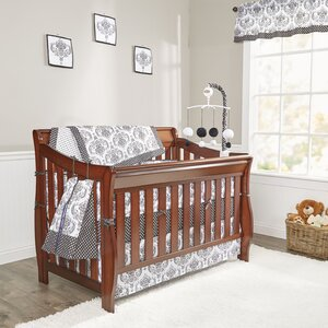 Classic Damask 10 Piece Crib Bedding Set