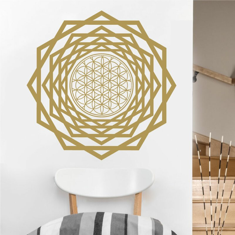 eyvaldecal flower of life with tunnel sacred geometry vinyl wall