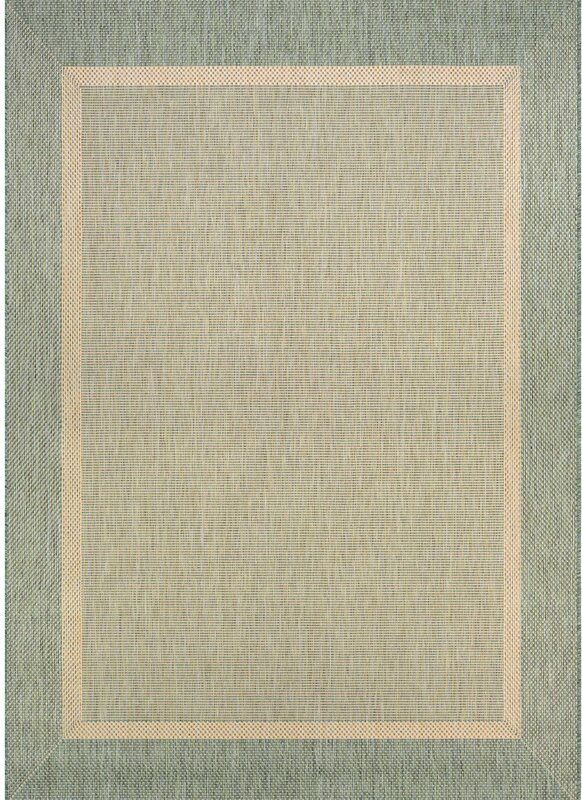 Linden Texture Green Beige Indoor Outdoor Area Rug