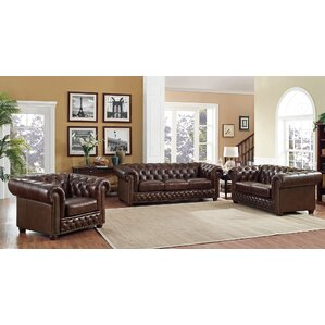 Worcester 3 Piece Living Room Set by Trent A..