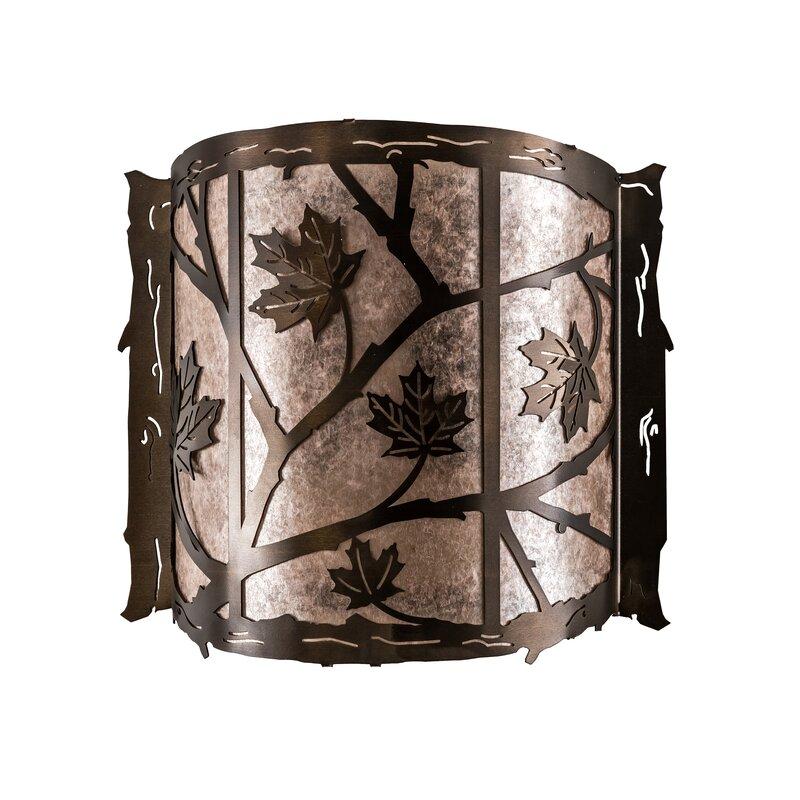 Meyda Tiffany 2 Light Maple Leaf Wall Sconce Wayfair