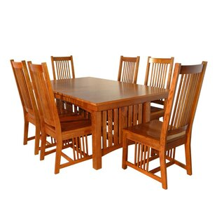 Neff Mission 7 Piece Extendable Solid Wood Dining Set