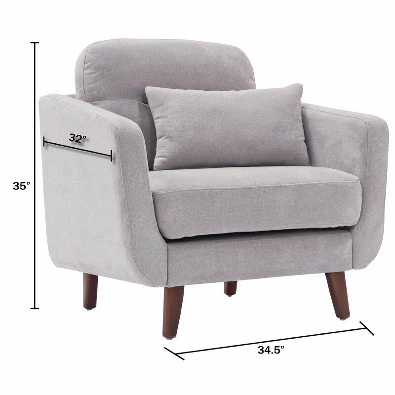 mid century modern armchair. Chloe Mid-Century Modern Armchair Mid Century
