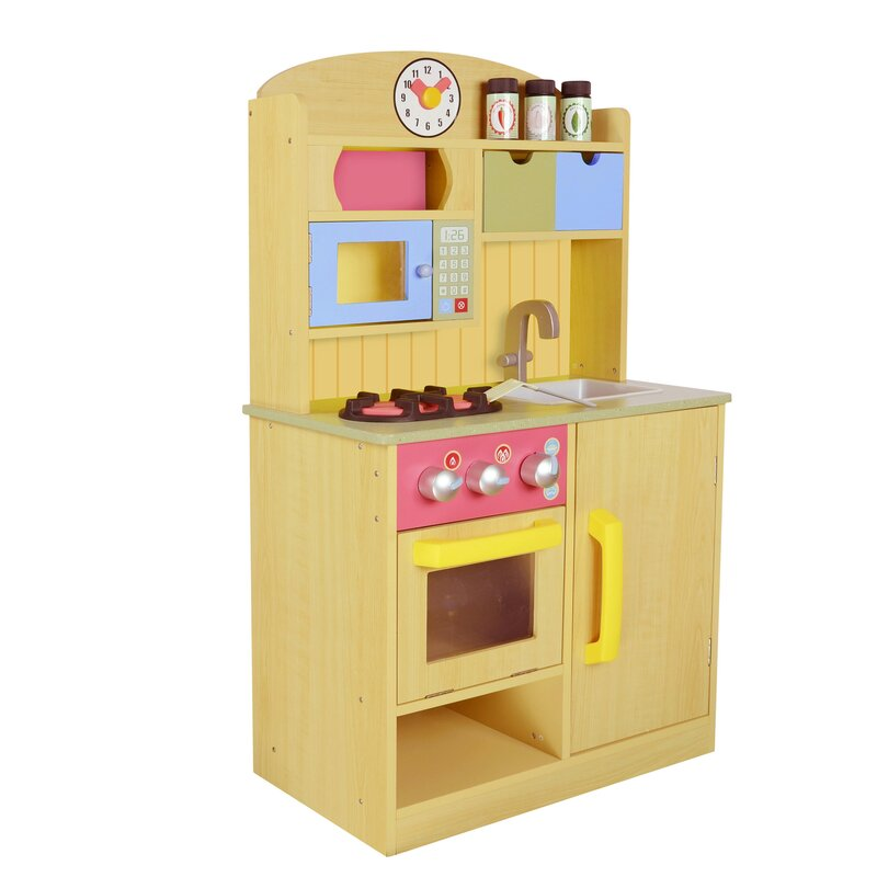 Wooden Play Kitchen teamson kids little chef wooden play kitchen with accessories