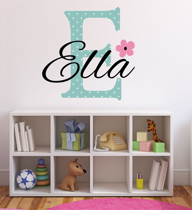 Decor Designs Decals Personalized Flower Name Wall Decal Reviews