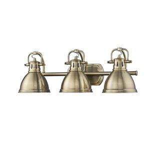 Antique brass bathroom vanity lighting youll love wayfair antique brass bathroom vanity lighting aloadofball Image collections