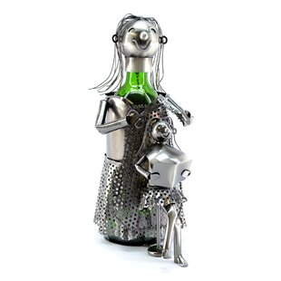 Lady Hairdresser 1 Bottle Tabletop Wine Rack