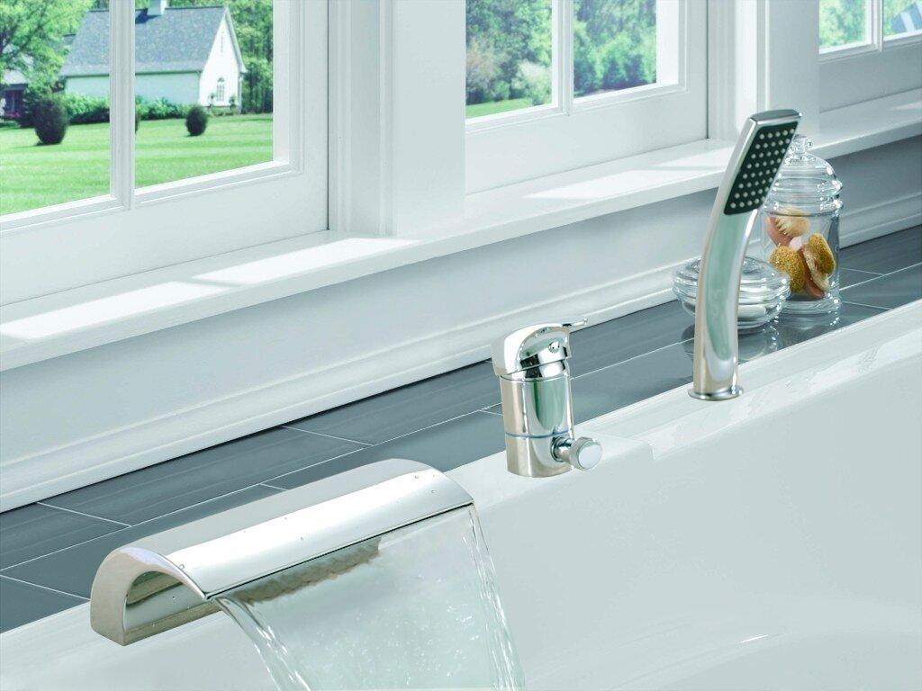 Sumerain Single Handle Deck Mount Bath Tub Faucet & Reviews | Wayfair