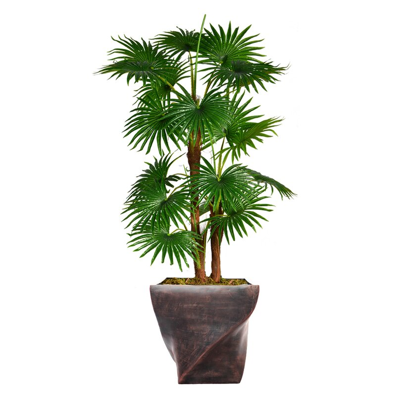 Artificial Indoor Outdoor Décor Floor Palm Tree In Planter