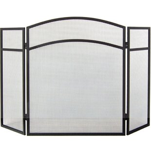 Milton 3 Panel Steel Fireplace Screen