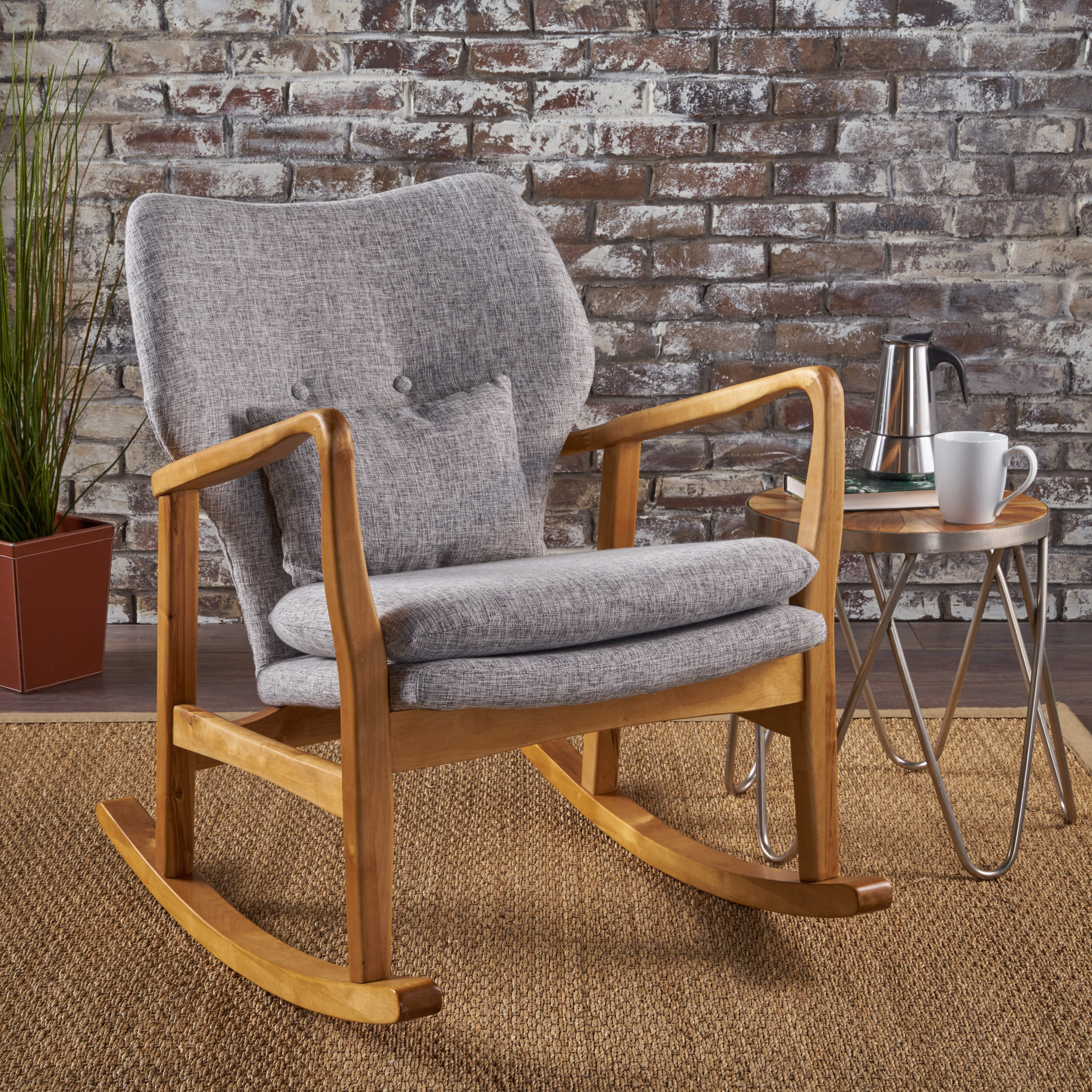 Genial Brayden Studio Saum Fabric Rocking Chair U0026 Reviews   Wayfair
