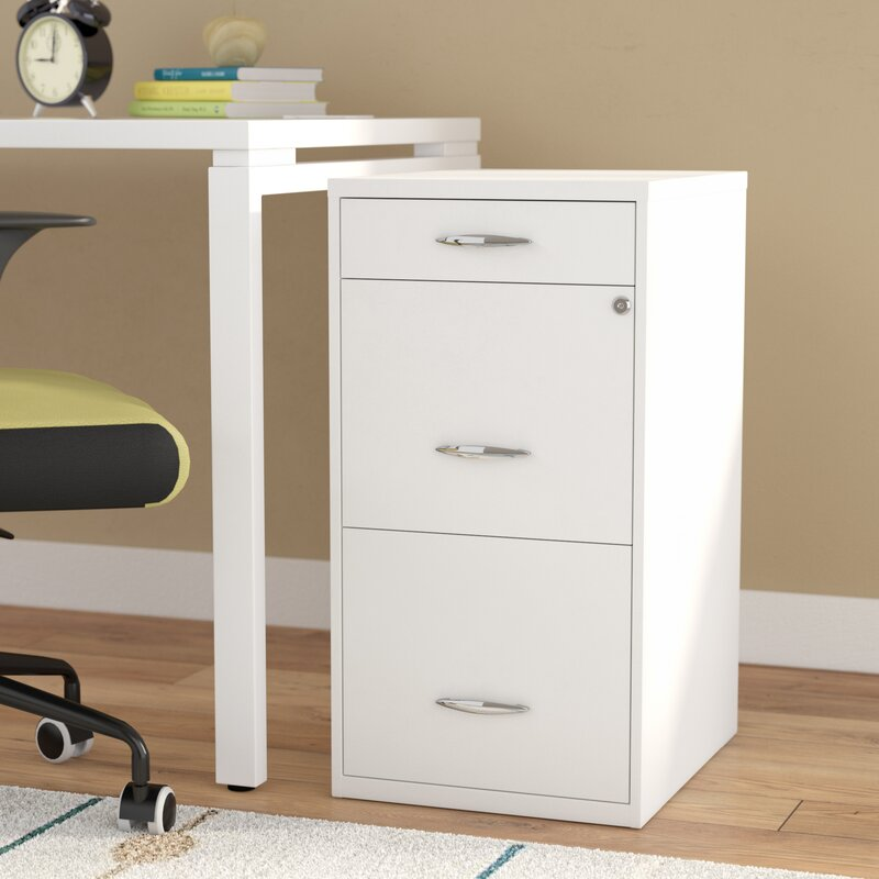 rebrilliant bottomley steel 3 drawer filing cabinet & reviews | wayfair 3 drawer file cabinet