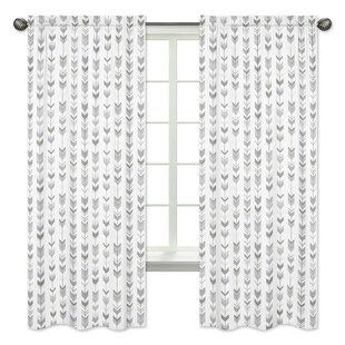 Mod Arrow Rod Pocket Window Curtain Panels (Set Of 2)