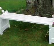 Outdoor Planter Bench Planter outdoor benches youll love wayfair square plastic planter bench workwithnaturefo