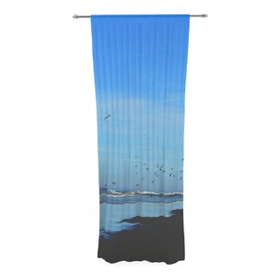 Robin Inson Beach Hair Coastal Decorative Nautical Sheer Rod Pocket Curtain Panels Set Of 2
