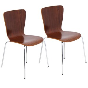 Vicente Bentwood Stacker Dining Chair (Set of 4) by Orren Ellis
