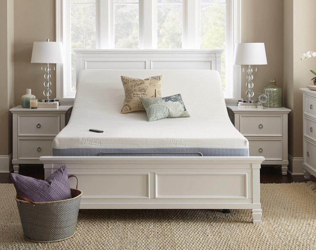 Alwyn Home Upholstered Wireless Adjustable Bed Base