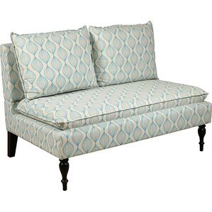 Upholstered Graphic Print Banquette Sofa by PRI
