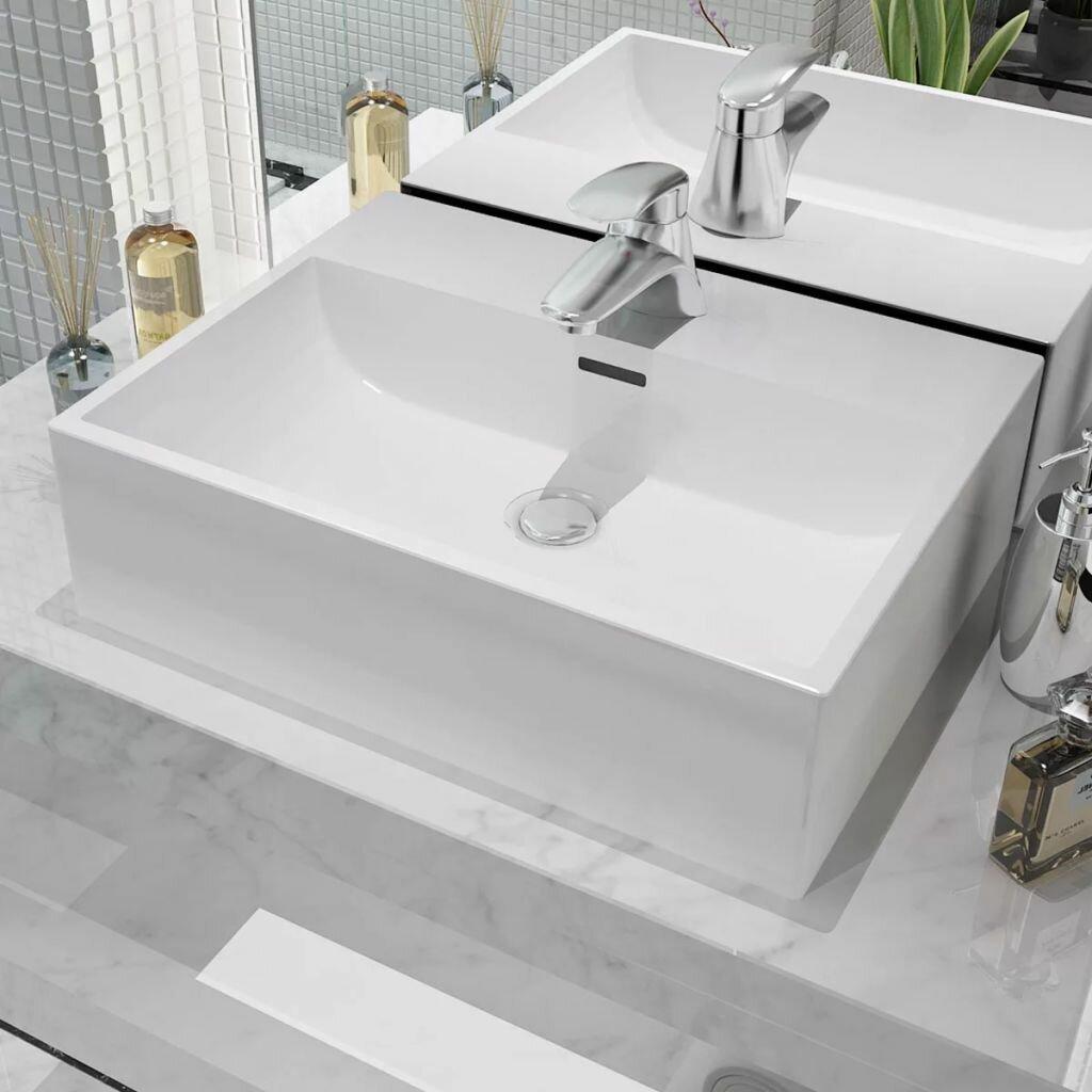 Belfry Bathroom Richelle Ceramic Rectangular 515 Mm Countertop Basin