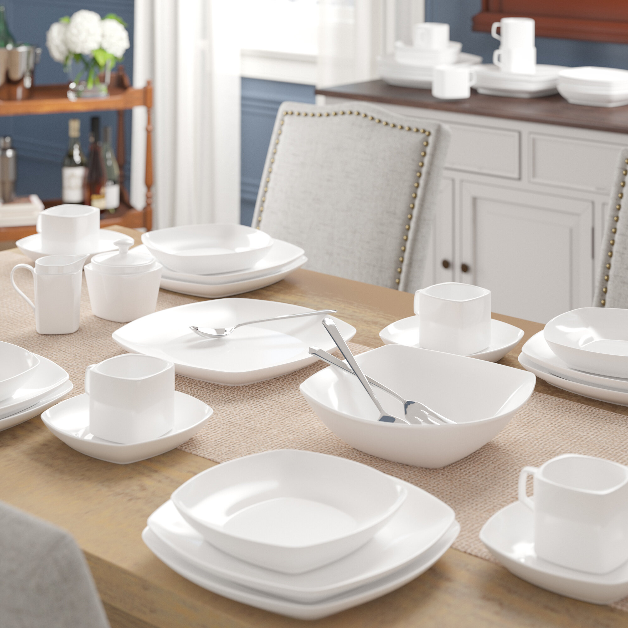 & Mint Pantry Filomena 45 Piece Dinnerware Set u0026 Reviews | Wayfair