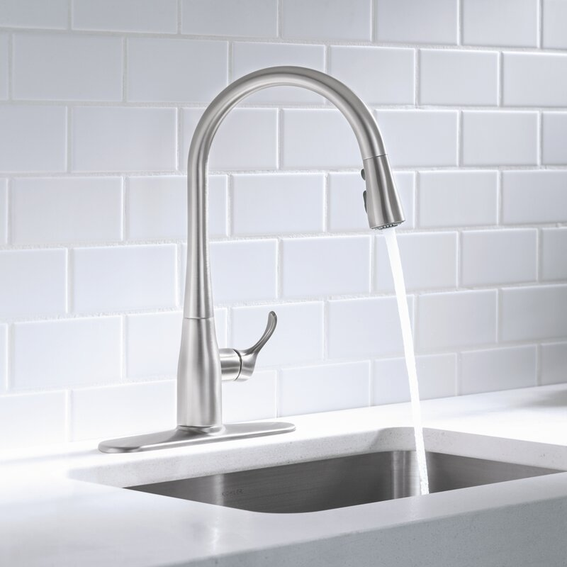 K 596 Vs Cp Bl Kohler Simplice Pull Down Single Handle Kitchen