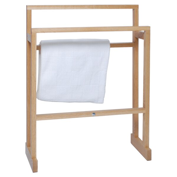 Wood Freestanding Towel Rails Wayfair Co Uk