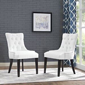 ally wood leg upholstered dining chair