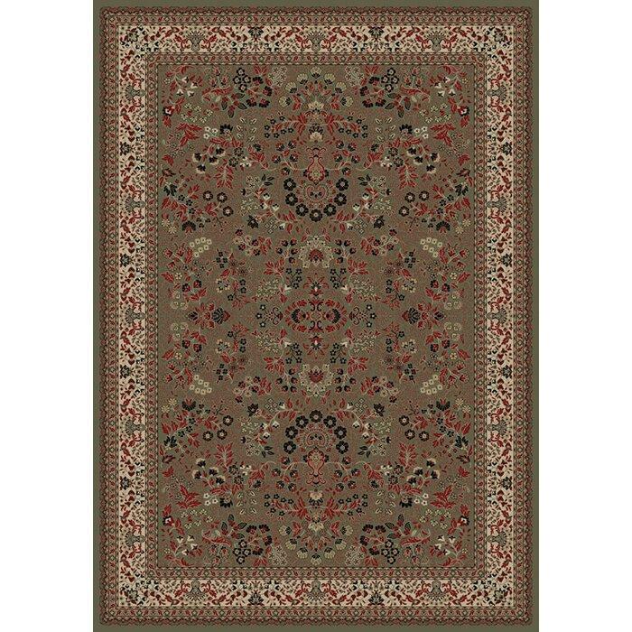 Persian Clics Oriental Sarouk Green Area Rug
