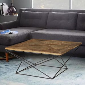 Torcere Reclaimed Elm Wood Coffee Table by Magari